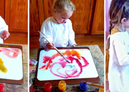 Wet on wet watercolour painting waldorf steiner painting at kindergarten